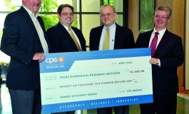 CPS Energy Gives Texas Biomed Rebate Check for Energy Efficient Center